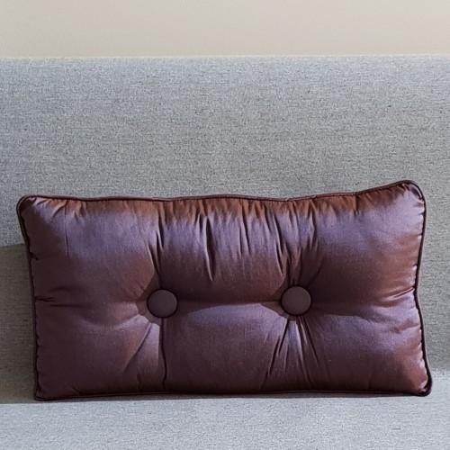 2 Buttoned - rectangular - aubergine