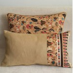 Batik Jewels - small - rectangualr - cushion - beige