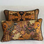 Batik Leaves - small - rectangualr - cushion