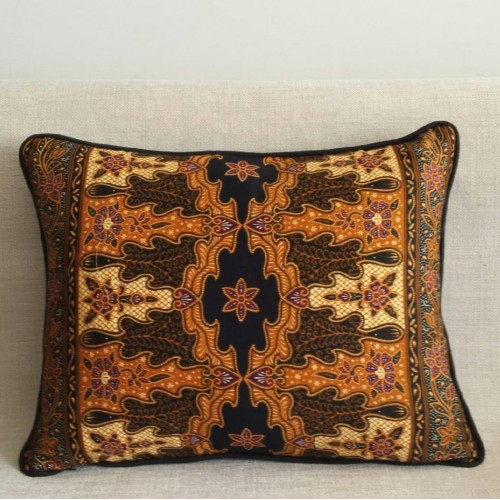 Batik Leaves - rectangular - cushion