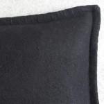 Felt with Blanket Stitch - cushion - rectangular - black