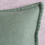 Felt with Blanket Stitch - cushion - rectangular - mint green