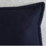 Felt with Blanket Stitch - cushion - rectangular - navy