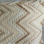 Chevron cushion - rectangular - taupe