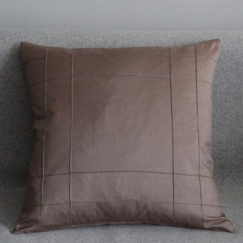 Stitched Grid - cushion - square - coffee