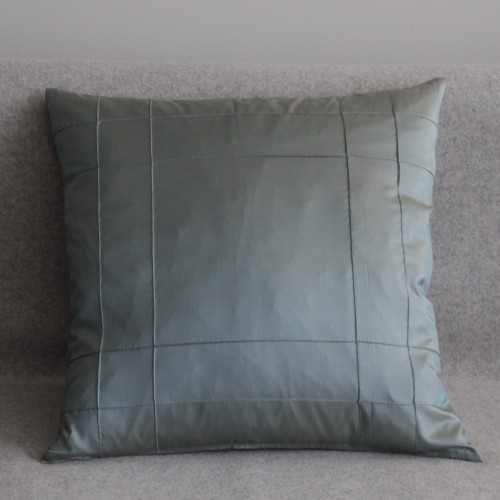 Stitched Grid- cushion - square - mint