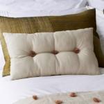 Raw Silk 4 Panel - square - cushion - mauve