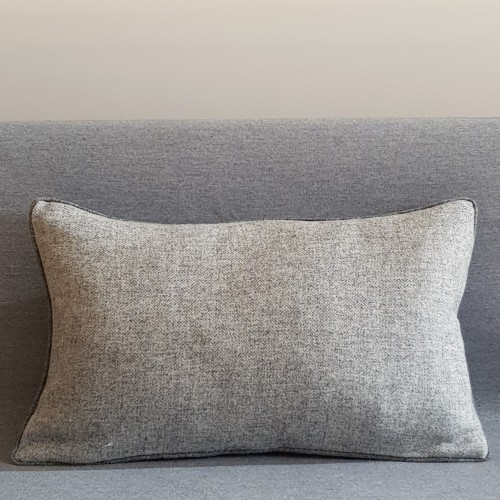 Herringbone Wool cushion - rectangular - greys