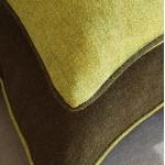 Herringbone Wool cushion - large - rectangular - greens