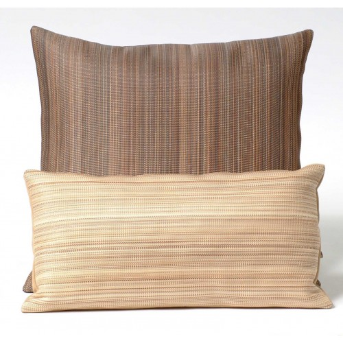 Horsehair cushion  - rectangular - mocha