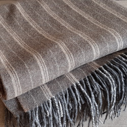 Cashmere Throw - striped