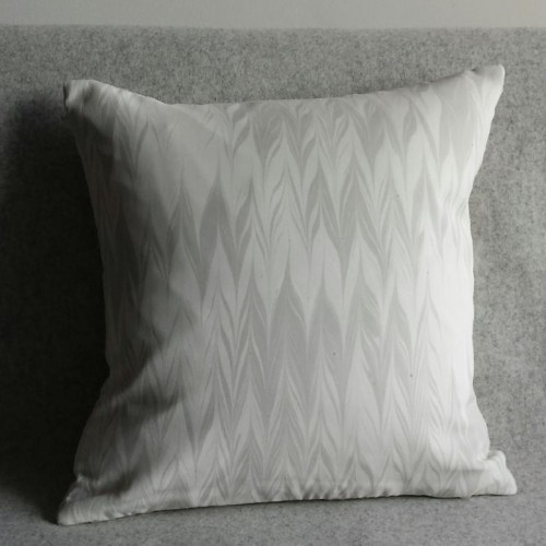 Marbled cushion - small square - silver