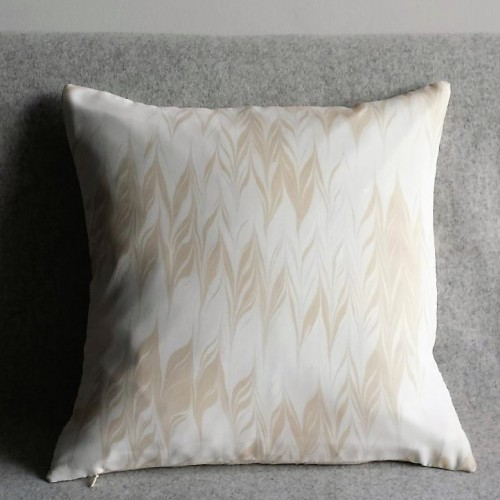 Marbled cushion - small square - taupe