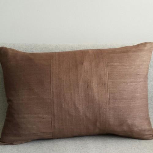 Matka Silk 3 Panel - large rectangular - cushion - coffee