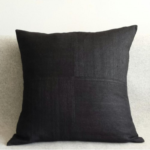 Matka Silk 4 Panel - square - cushion - black