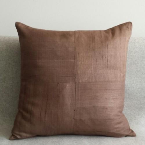Matka Silk 4 Panel - square - cushion - coffee