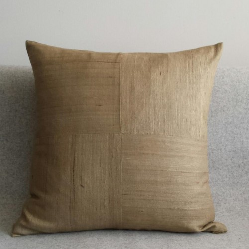 Matka Silk 4 Panel - square - cushion - khaki
