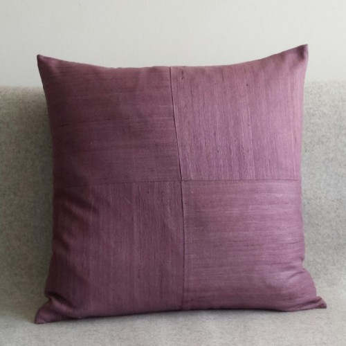 Matka Silk 4 Panel - square - cushion - lavender