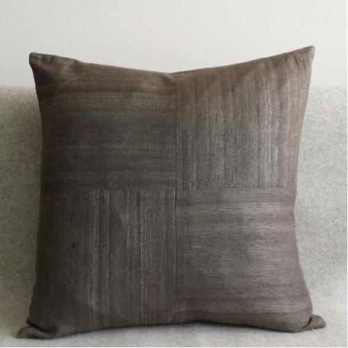 Matka Silk 4 Panel - square - cushion - grey