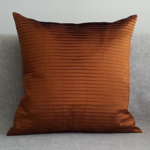 Pleated - square -  cushion - ginger - SAVE £20.00