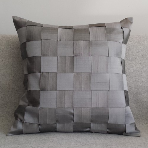 Lattice Weave cushion - square - silver