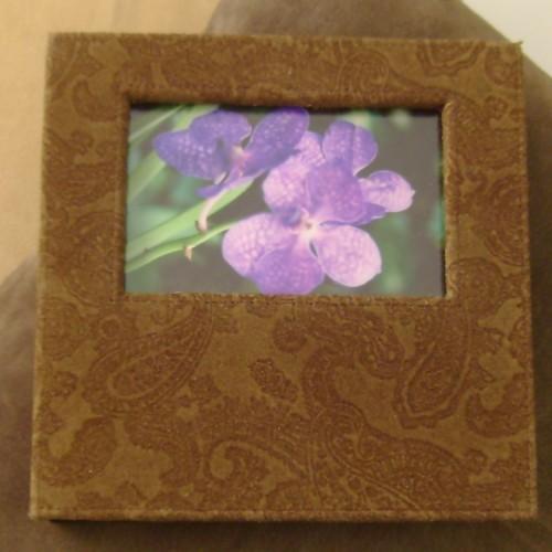 Paisley Photo Frame - mocha