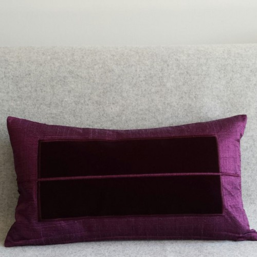 Panel - rectangular - cushion - aubergine