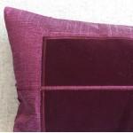 Panel - rectangular - cushion - aubergine