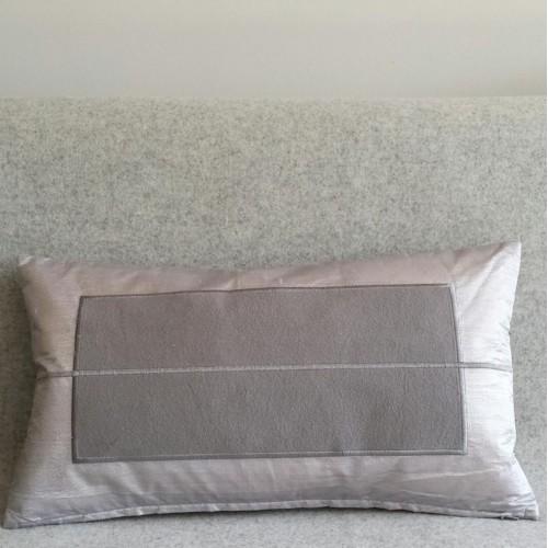 Panel - rectangular - cushion - silver