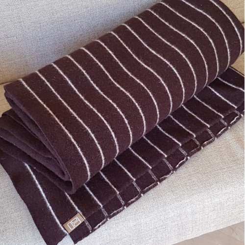 Pinstripe Throw - Chocolate