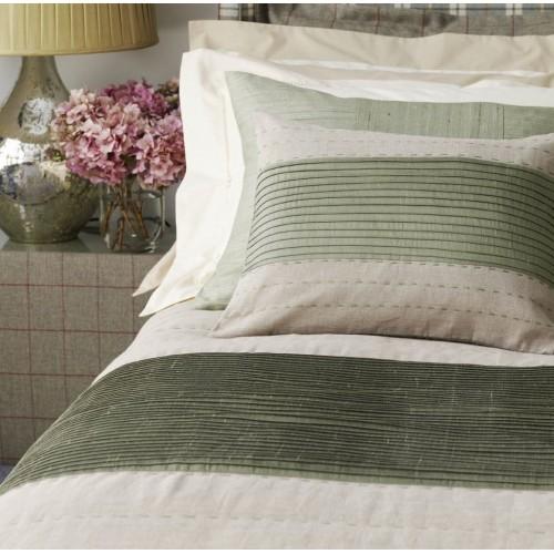 Pintuck Panel Full Quilt - Linen & Silk