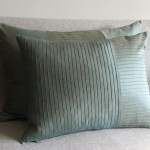 Pintuck Stripes 1 Panel - large - rectangular - cushion - mint