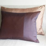 Pintuck Stripes - cushion - rectangular - aubergine
