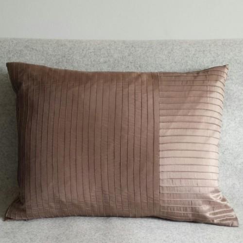 Pintuck Stripes - cushion - rectangular - coffee