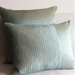 Pintuck Stripes - cushion - rectangular - mint