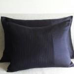 Pintuck Stripes - cushion - rectangular - navy