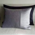 Pintuck Stripes 1 Panel - large - rectangular - cushion - navy