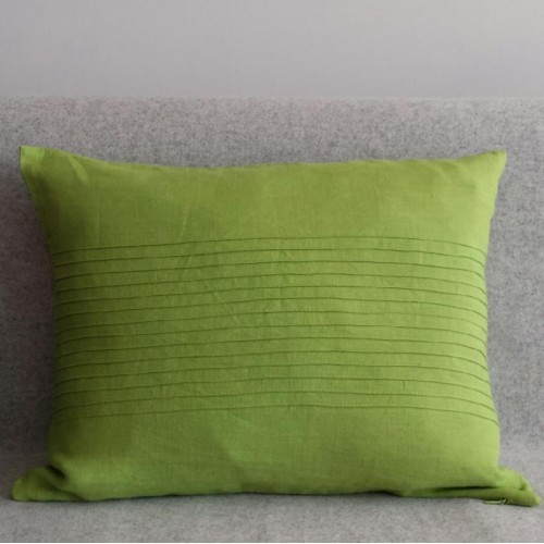 Pintuck Panel - rectangular - cushion - lime