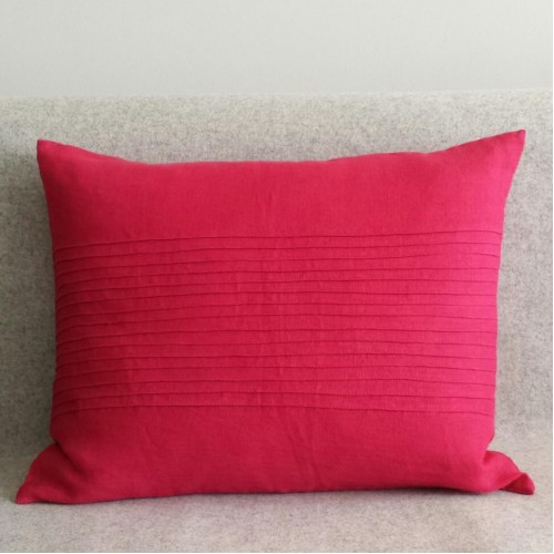 Pintuck Panel - rectangular - cushion - pink