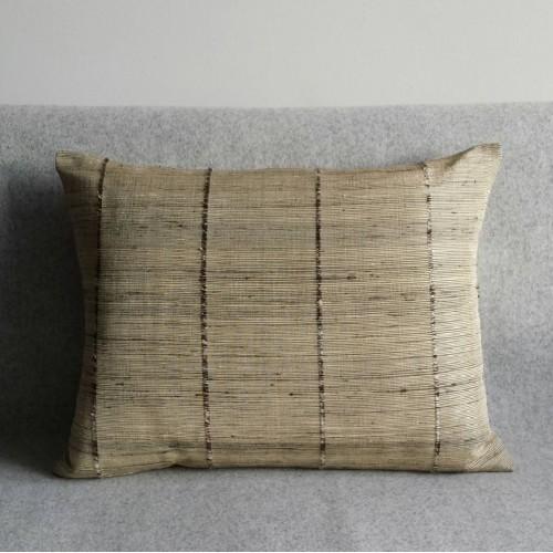 Ribbed cushion - rectangular - bamboo