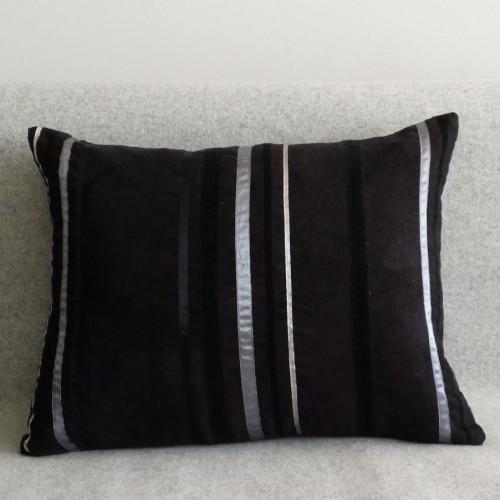 Ribbon Stripes - rectangular - cushion - black