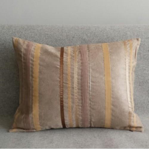 Ribbon Stripes - rectangular - cushion - coffee
