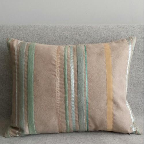 Ribbon Stripes - rectangular - cushion - mint