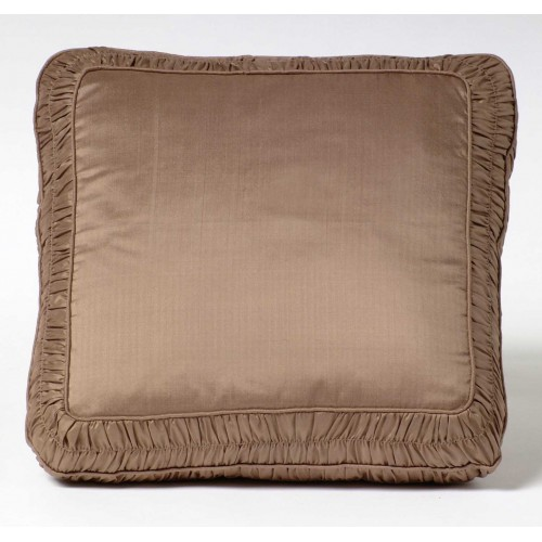 Ruched Border cushion - square - coffee