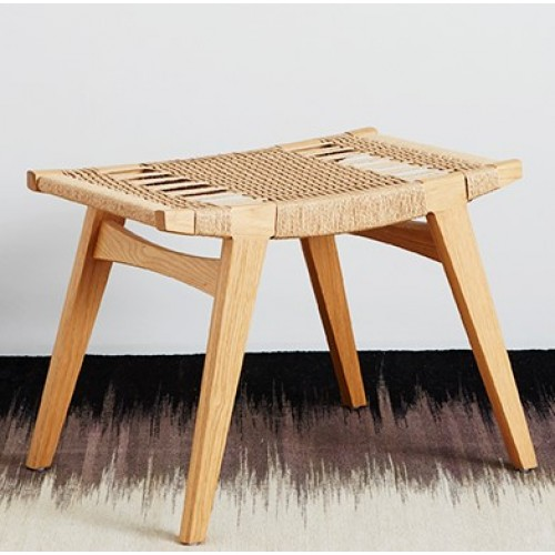Pi Stool with woven Danish cord seat