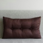 Tufted Cushion - rectangular - Chocolate x2 SAVE £6 !