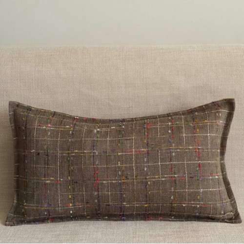 Colourful Tweed - rectangular - cushion - greige