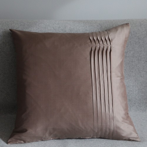 Twisted Pleat - cushion - square - coffee