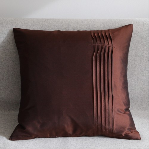 Twisted Pleat - cushion - square - chocolate