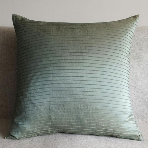 Pintuck Stripes - cushion - square - mint